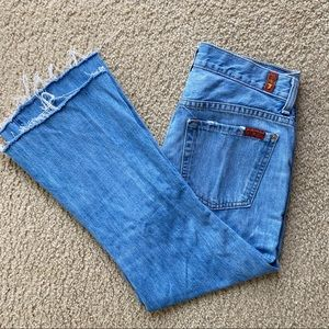 7 For All Mankind High Waist Vintage Bootcut Jeans